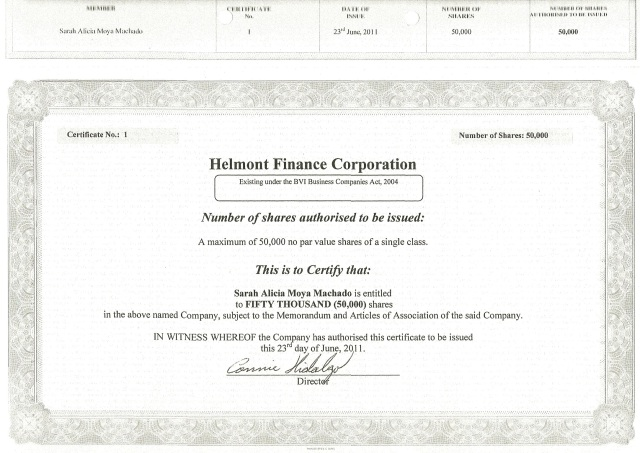 Certificado-de-Acciones-Helmont-Finance-Corporation