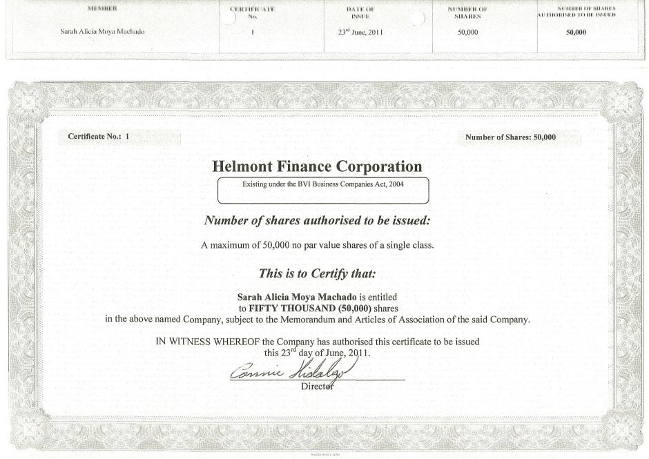 Certificado-de-Acciones-Helmont-Finance-Corporation
