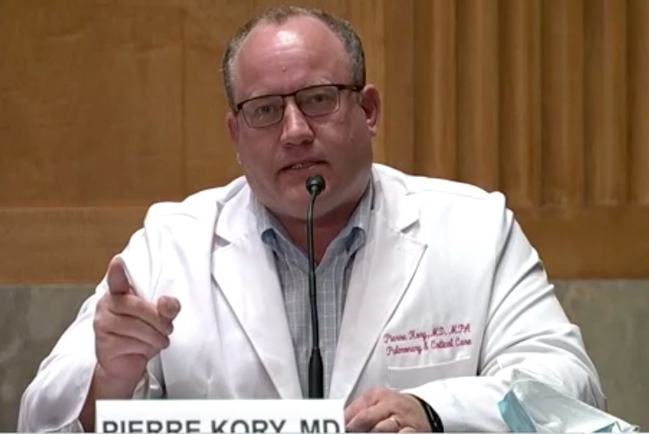 """Dr. Pierre Kory to major U.S. media: """"We do not have months. Thousands are  dying every day."""" 